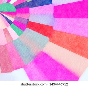 Fantasy style bright colors pattern background for create banner, cards, invitations and prints. Watercolor and oil graphic imitation elements. Surreal design. Creative wall art decor template.