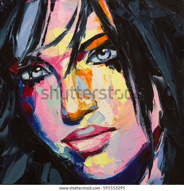 """A fantasy woman portrait from """"colorful emotions"""" series."""