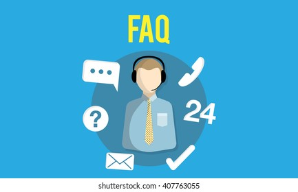 FAQ Enquiry Questions Guide Customer Support Concept