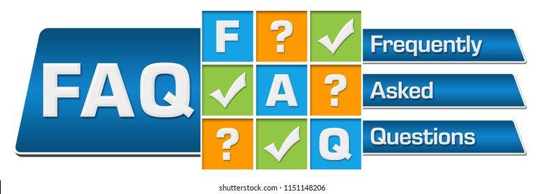 FAQ - Frequently Asked Questions concept image with text and related symbols.