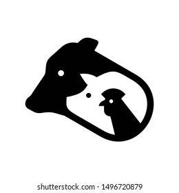 Farm animals logo. Icon design. Template elements