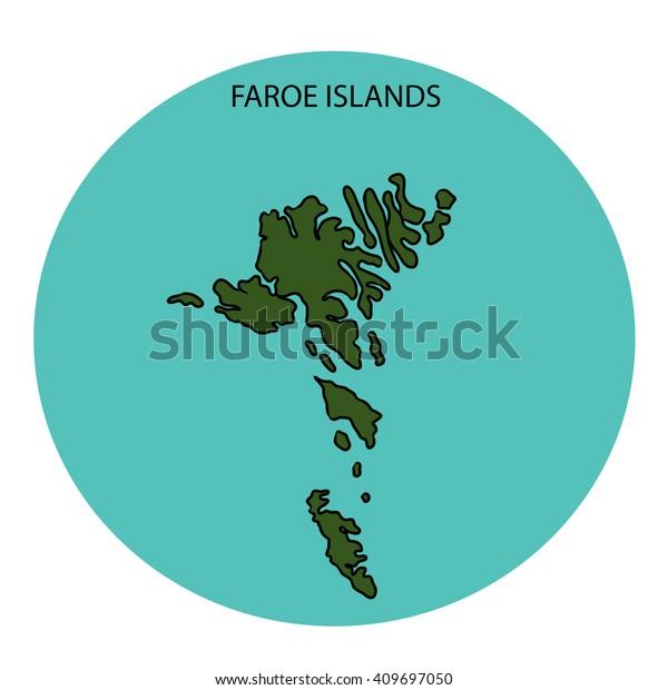 Faroe Islands Map Stock Illustration 409697050