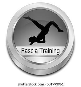 Fascia Training button - 3D illustration