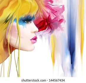 Fashion Art Portrait Of Beautiful Girl