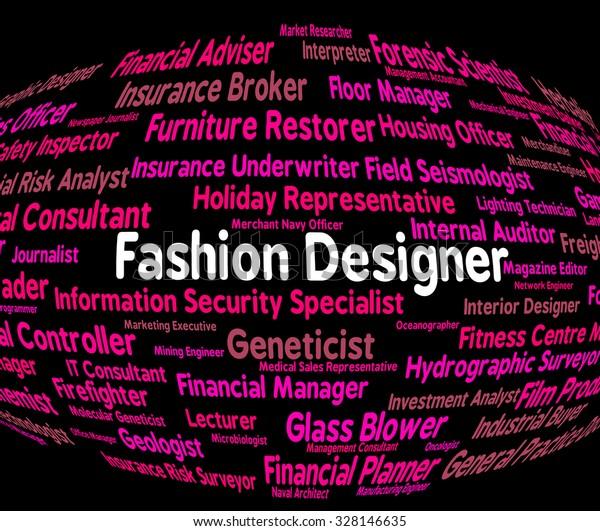 Fashion Designer Meaning Hire Style Recruitment Stock Illustration 328146635