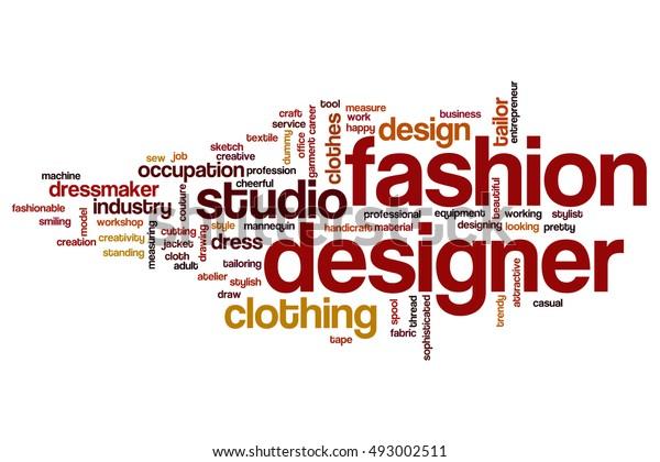Fashion Designer Word Cloud Concept Stock Illustration 493002511
