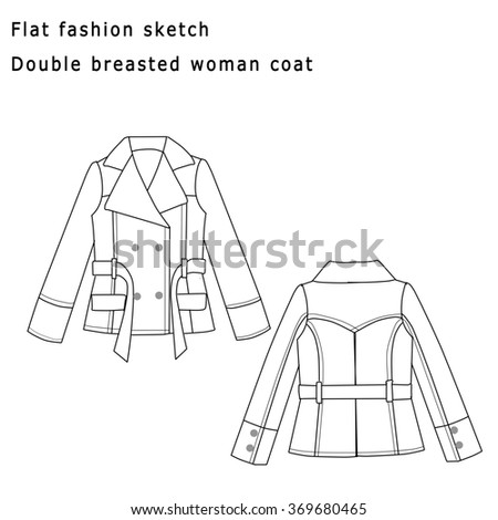 Royalty Free Stock Illustration of Fashion Flat Sketch Template ...