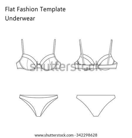 Fashion Flat Templates Sketches
