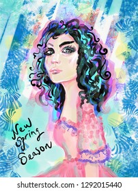 Fashion illustration, spring season