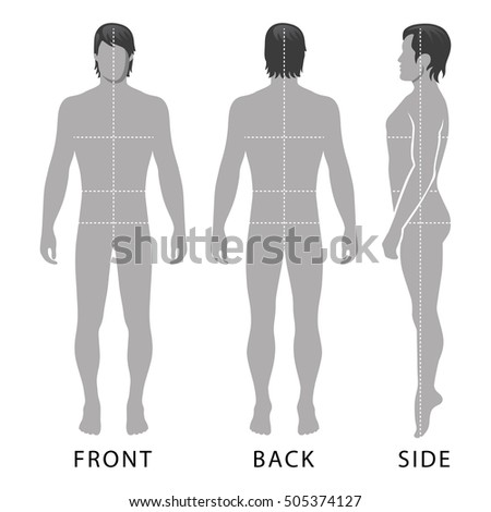 fashion man full length template figureのイラスト素材 505374127