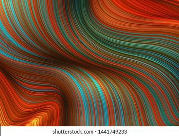 Fashion poster thin lines locks luxury design. Liquid wave shiny lines hair fashion background. Beautiful flowing drape textiles thin threads hair. Illustration vogue liquid threads drape banner set.