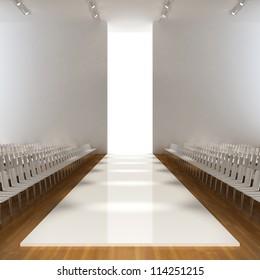 fashion runway empty  3d