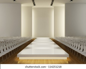 fashion runway empty  3d