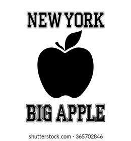 Fashion Typography Graphics. New York Sport Big Apple T-shirt Design