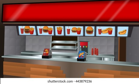 Fast food counter Background