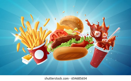 Fast Food - high resolution raster file. Size: 15868x9046px. Suitable for billboards.