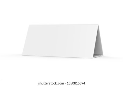 Fast food restaurant table tent mock up template, advertise your menus or make promotions with this professional and organised table talker, 3d illustration