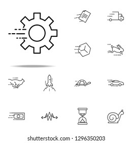 fast mechanism icon. Speed icons universal set for web and mobile