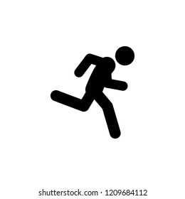 fast, run icon. Element of walking and running people icon for mobile concept and web apps. Detailed fast, run icon can be used for web and mobile