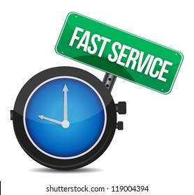 fast service concept illustration design over a white background