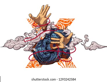 fate love red thread illustration