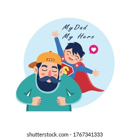 Father and Son cartoons celebrating Father's Day