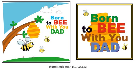 Fathers Day Cards - Being together is fun