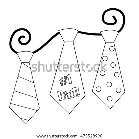 Fathers Day Ties Coloring Page Stock Illustration 475528990 ...