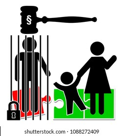 Fathers in Prison. Imprisonment of one parent entails the forcible separation of a child, who is suffering badly