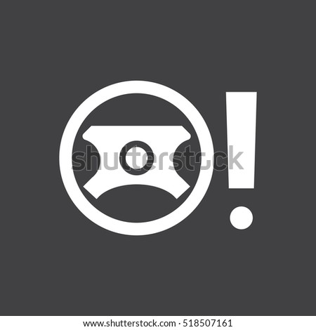 Faulty Power Steering Sign Car Dashboard Stock Illustration