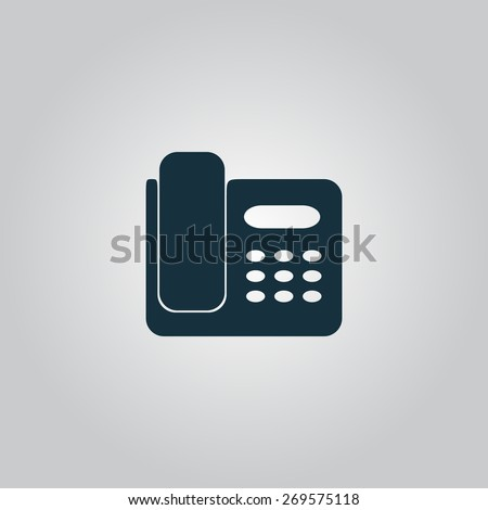 fax machine flat web icon sign stock illustration 269575118