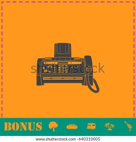 fax machine icon flat simple illustration stock illustration