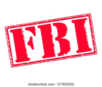 FBI RED Stamp Text on white backgroud