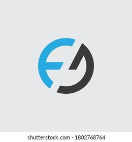 FD letter monogram logo design