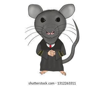 February 13, 2019. Rata, injustice, caricature, illustration, portrait, Colombia.