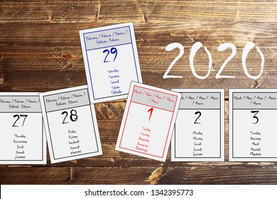 February 29, leap day in 2020