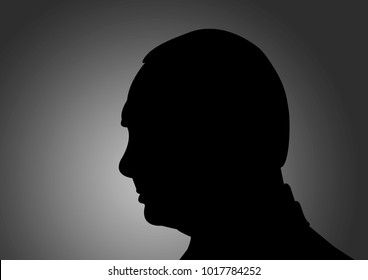 February 5, 2018: An illustration of a portrait of Vladimir Putin, the President of Russia