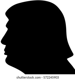 Februry 5, 2017. US President Donald Trump left profile