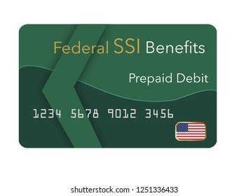 Federal  benefits for Social Security, SSI, VA  and more can be paid using a prepaid debit card. Here is a mock prepaid government debit card for a Supplemental Security Income recipient. .