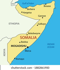 Federal Republic of Somalia - map