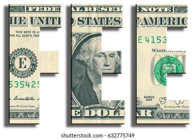 Fee. US Dollar texture.