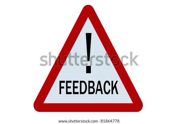 Feedback sign illustration on white background
