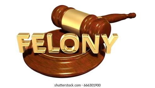 Felony Law Concept 3D Illustration