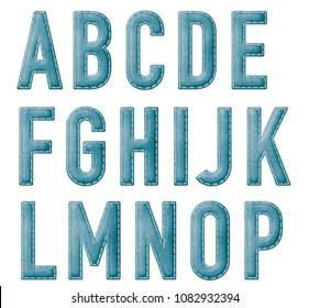 Felt Alphabet Lettering