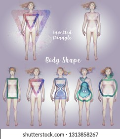 FEMALE BODY SHAPE - inverted triangle