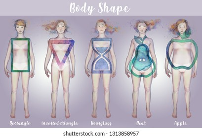 FEMALE BODY SHAPE - set