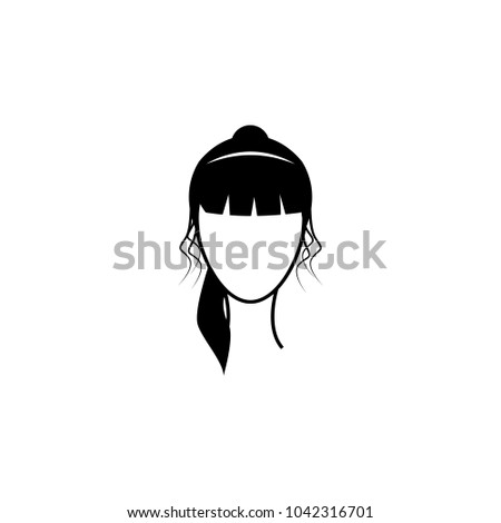 Royalty Free Stock Illustration of Female Hairstyle Icon ...
