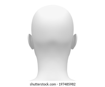 blank white female head side front stock illustration 575197756