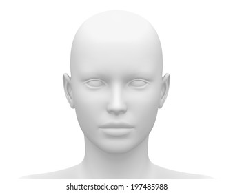 Female Head Blank Mannequin - Front view