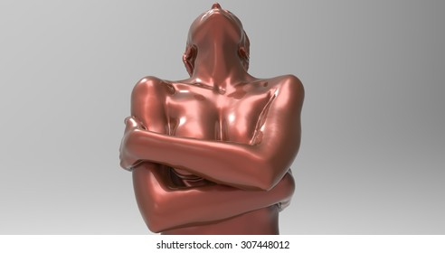 Female mannequin poses erotic, sexy, design of rich colors